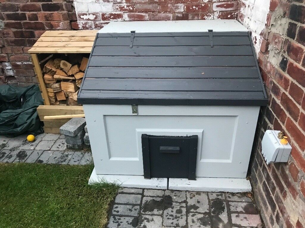 As new and painted concrete coal bunker with base and only 3 month ...