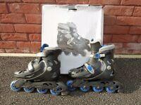 Pair of Children's Inline Skates, Adjustable fit, Size 13 - 3.