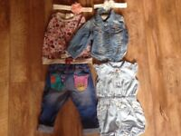 Baby girl clothes, shoes bundle 6-9 months