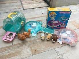 Zhu Zhu pets playhouse, hamsters and extras