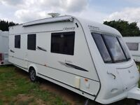 Elddis Odyssey 2008 550 4 Berth fixed island bed with motor mover and awning