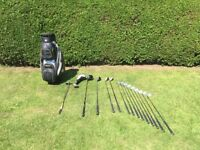 Full golf club set with bag and woods