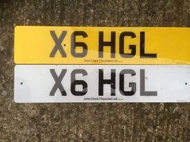 Cherished Number Plate X6 HGL