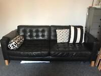 Ikea Karlstad 3 Seater Leather Sofa