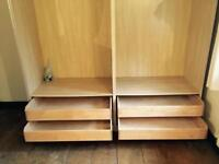 Ikea wardrobe (does come with doors but not in pic)