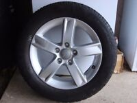 AUDI ALLOY WHEELS WITH WINTER TYRES