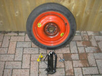 FORD FOCUS mk1 Space Saver Wheel / Tyre / Jack / Tow Towing eye