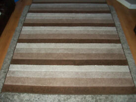 Rug Chocolate, Beige and Cream 1.6m X 2.3m