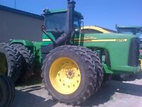 2002 John Deere 9520 Articulated 4WD Tractor with