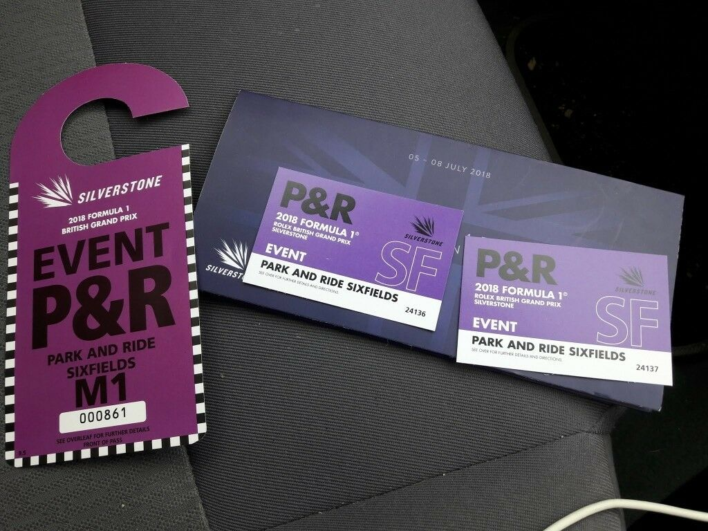 Silverstone GP F1 Park & Ride Sixfields Tickets | in Northampton ...