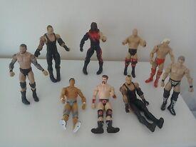 Group of Wrestler Figurines