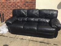 3 Seater Leather Sofa - £35 O.N.O!