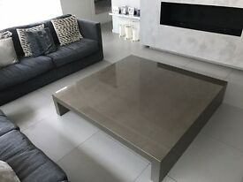 Brand New Casa Armani Coffee Table 150 x 150 x 30 DANZICA SHINY STUCCO MUD. Code 041168 CA651C4453