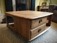 Ercol Windsor Pandora's Box Solid Elm Coffee Table