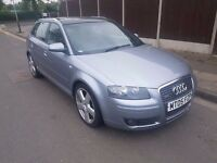 2005 AUDI A3 2.0 TDI S LINE DSG GEARBOX..SAT NAV..PANORAMIC ROOF..12 MONTHS MOT