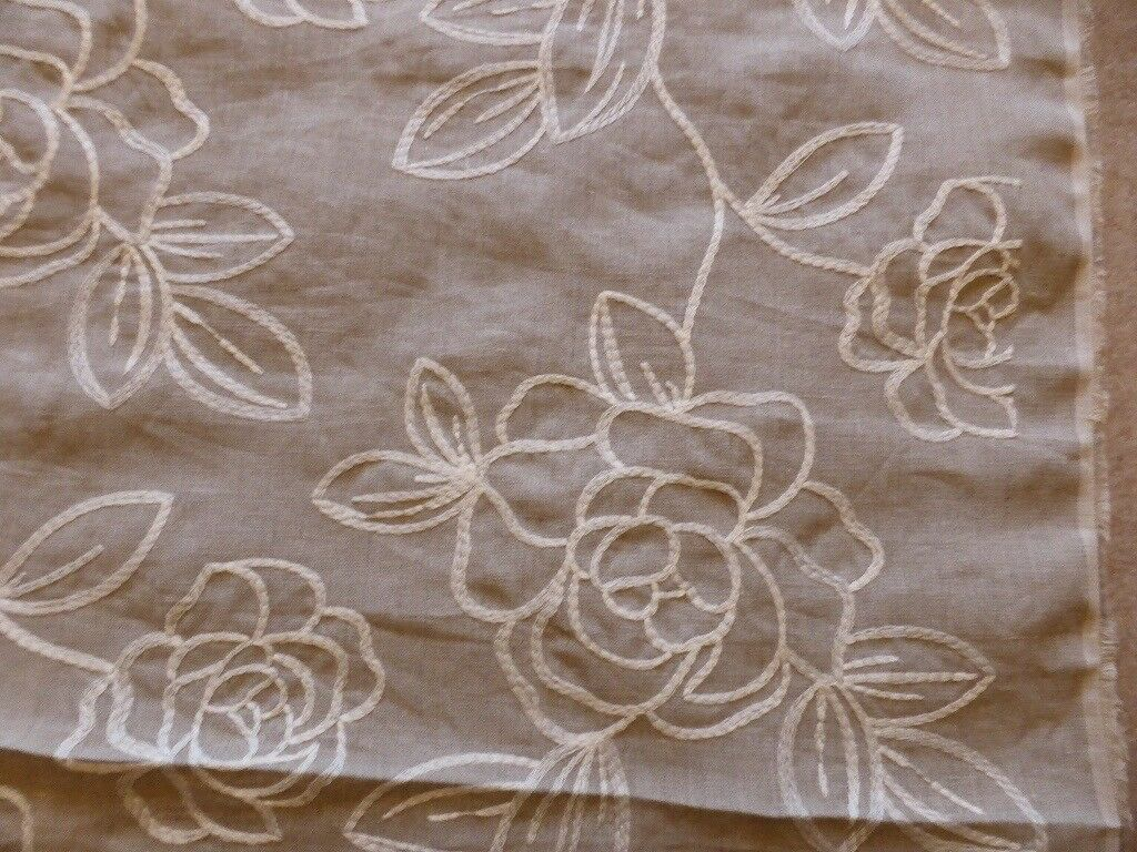 Linen fabric with embroidered design for blinds,cushions,curtains,NEW. #cushions,#blinds