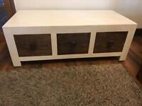 Oak furniture land 6 Drawer Storage large Coffee Table