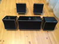 JAMO HOME CINEMA SPEAKERS, 120 Watts each, FULLY WORKING, LOUD & CLEAR SOUND, EXCELLENT CONDITION.