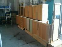 Wooden kitchen cabinet set