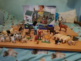 Elc wooden farm and toy animals