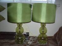 green bubble lamps