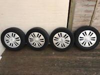"""4 x Volkswagen Up 14"""" Steel Wheels - Wheel Trims & Tyres"""