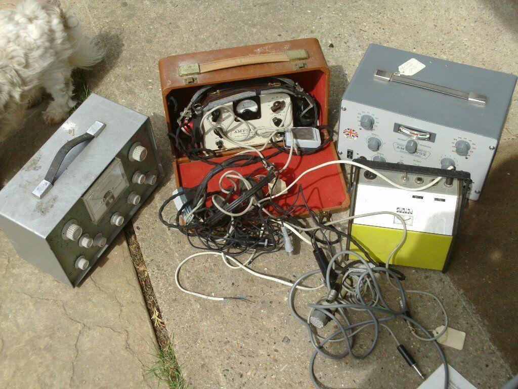 rare vintage deaf testing equipment