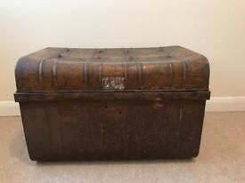 Antique metal chest