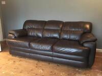 Brown leather sofa £20.00 ono