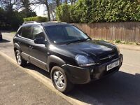 *BLACK 2007 HYUNDAI TUCSON 2.0L AUTO DIESEL, 42239 MILES, VERY GOOD CONDITION, MOT UNTIL JULY*