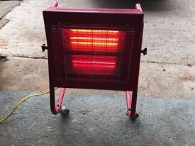 ELITE HEAT INFA RED WORKSHOP / SPACE HEATER 110volt WITH BRAND NEW TUBES