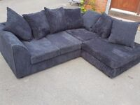 Nice 1 month old black cord corner sofa. clean and tidy. excellent condition.can deliver
