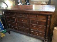Antique wooden side unit