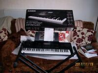 ELECTRONIC KEYBOARD USED ONCE CASIO CTK 7200 ( AS BRAND NEW )