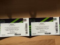 2 x WEEZER TICKETS - General Admission - Standing The SSE Arena, Wembley - Oct 28th