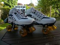 Men's Decathlon trainer style quad roller skates