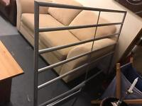 Double metal bed base and mattress