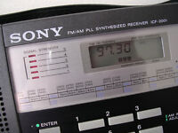 Sony ICF 2001 shortwave receiver from 1981