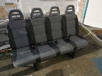new/unused 4 seat van bench