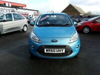 60 plate FORD KA 1.2 ZETEC TDCI ( DIESEL ) £20 A YEAR ROAD TAX , 1 LADY OWNER