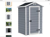 Brand New 4x3 Keter Outdoor Garden Shed