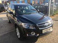 CHEVROLET CAPTIVA LTX AUTOMATIC DIESEL 2.0 7 SEATERS 2009 LEATHER SEATS 60000 MILES