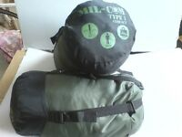 2 GREEN COMPACT STUFF SACK SLEEPING BAGS