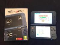 Nintendo new 3ds XL metallic blue 30 games boxed with charger