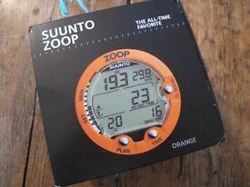 SUUNTO Zoop Dive Computer Watch SCUBA Boxed Orange Air Nitrox 80m