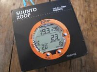 SUUNTO Zoop Dive Computer Watch SCUBA Boxed Orange Air Nitrox 80m