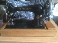 Genuine early vintage singer sewing machine