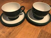 Denby Greenwich breakfast cups and saucers