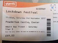 Selling Saturday Lockdown Festival Tickets x2