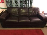 Leather 3 seater DFS
